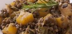 Lentilles aux poireaux